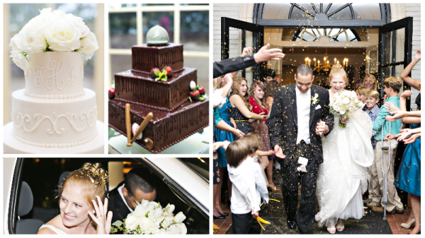 Birmingham Weddings - Fun Grooms Cake & Lavender Wedding Toss