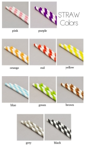 Striped Paper Straws for Vintage Parties & Weddings