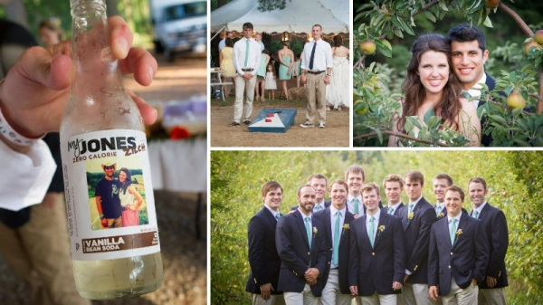 Jones Soda & Corn-hole for Outdoor Weddings