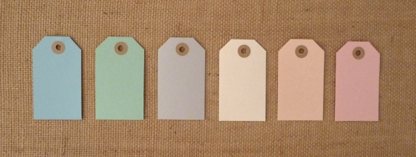 Wedding Favor Tags in Pretty Colors