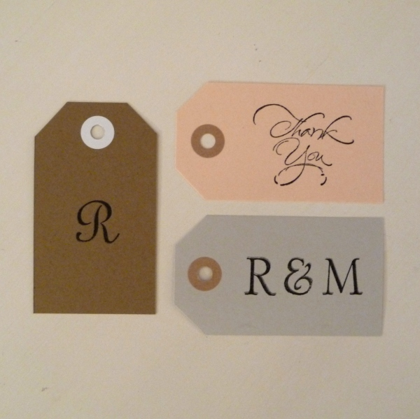 Personalized Tags for Wedding Favors - Monogram