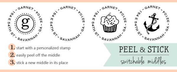 Custom Stamps for Newlywed and Hostess Gifts