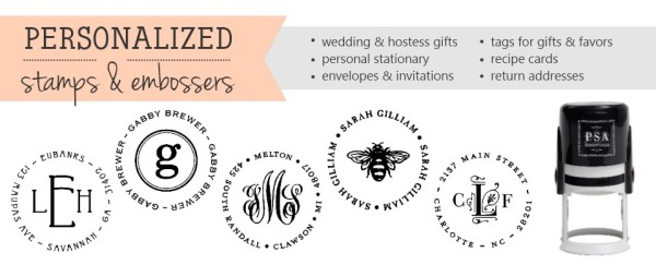 Custom Monogram Stamps for Wedding - PSA Essentials