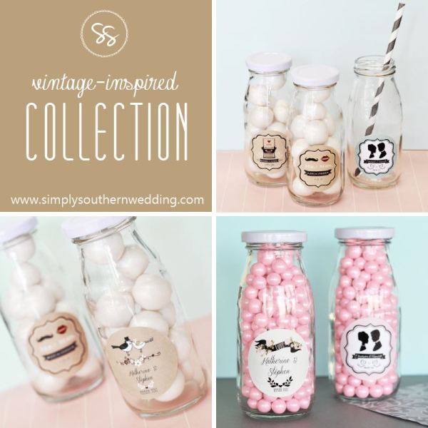Vintage Weddings: Milk Bottle Wedding Favors