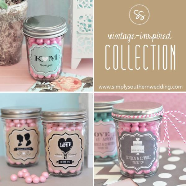 Mason Jar Wedding Favors - Vintage Weddings
