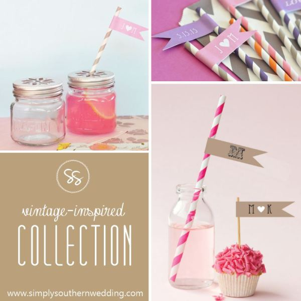 Paper Straws - Mint, Gold, Pink, & More