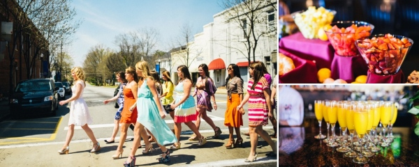 Colorful Bridal Brunch Styling - Southern Weddings