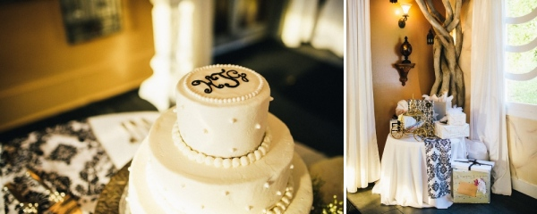 Elegant Monogram Wedding Cake - Southern Weddings