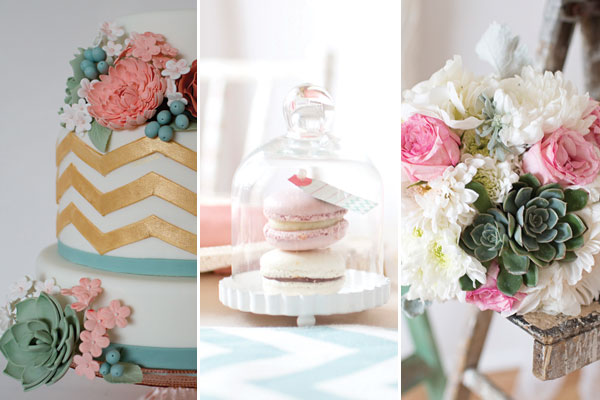 Pink & Aqua Wedding Color Palette
