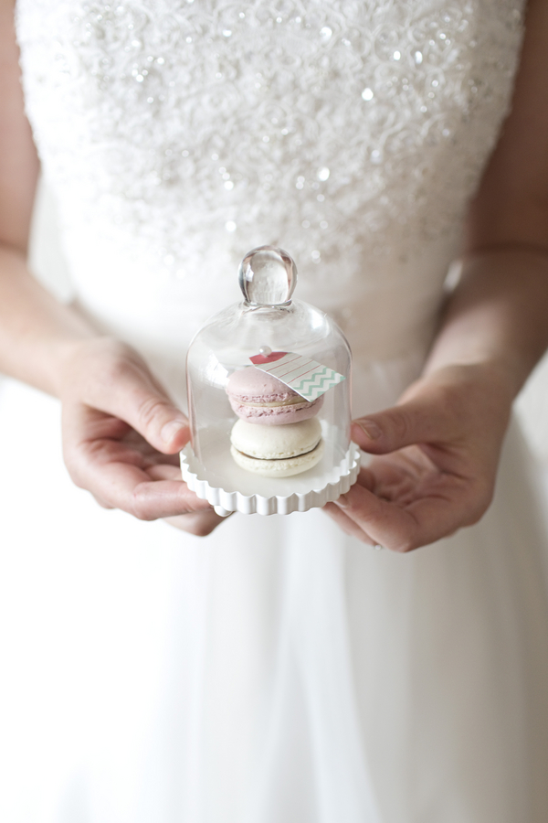 Macaroon Wedding Favors - Vintage Glass Jars