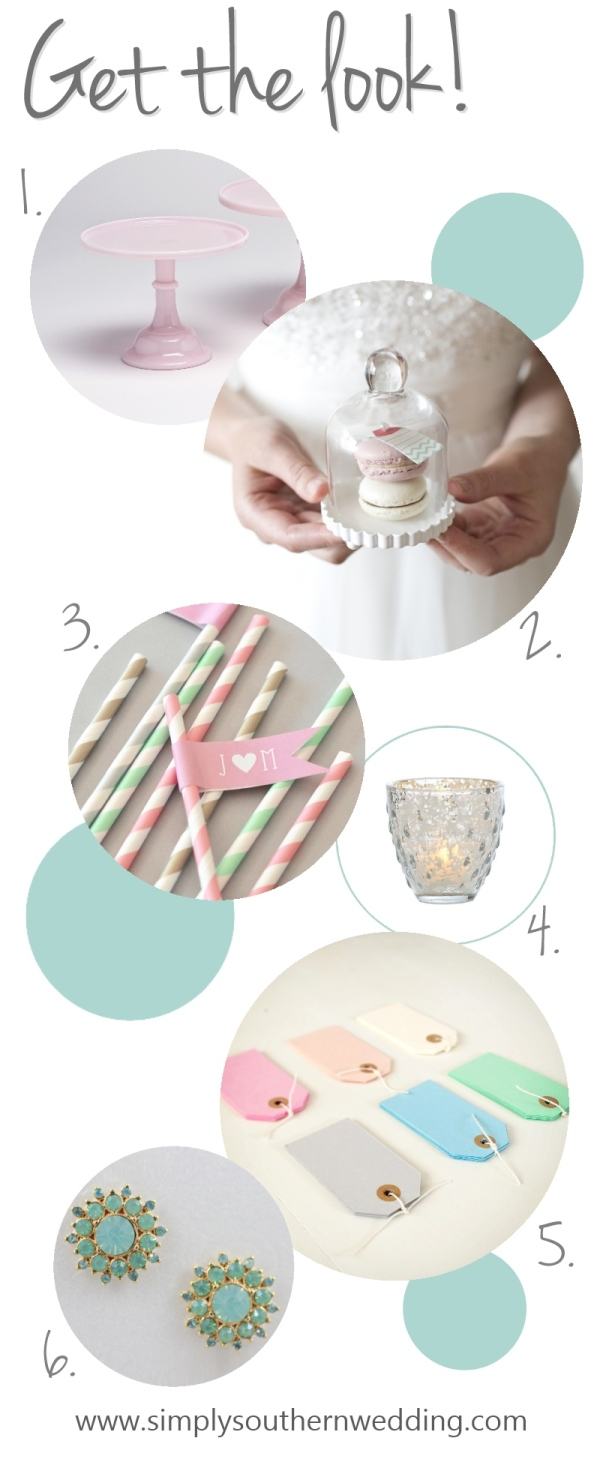 Pink & Mint Wedding Inspiration Board